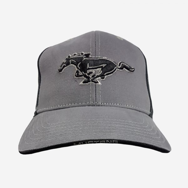 Mustang Running Horse White and Black Hat