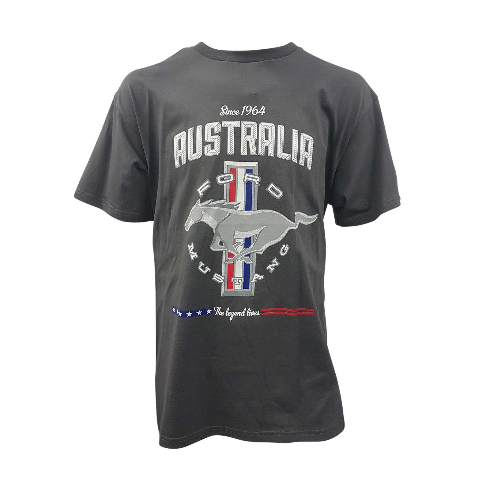 Ladies Size Ford Mustang Design T Shirt Tee Shirt Pony Tri: FORD MUSTANG AUSTRALIA T SHIRT GREY